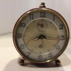 Despertadores antiguos: RELOJ DESPERTADOR SMI REPETITION FABRICADO EN FRANCIA - FUNCIONANDO. Lote 261247675