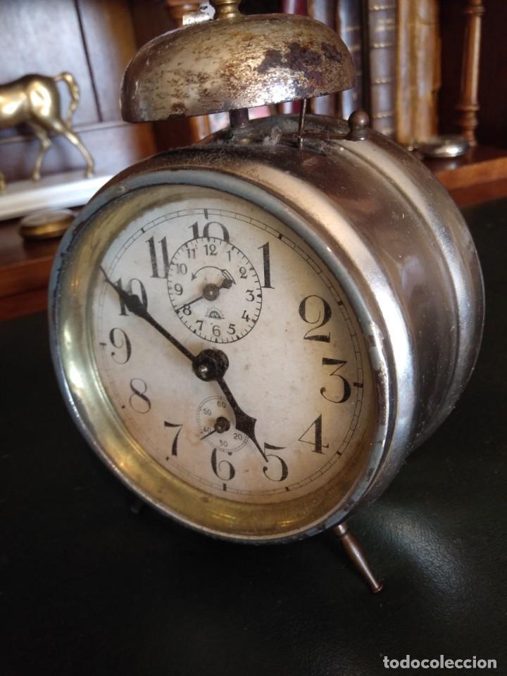 Despertadores antiguos: Reloj despertador antiguo - Foto 7 - 163457986