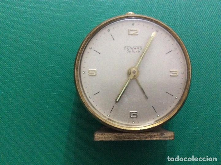 RELOJ DESPERTADOR DUWARD DE LUXE. AÑOS 60. PARA PIEZAS (Relojes - Relojes Despertadores)