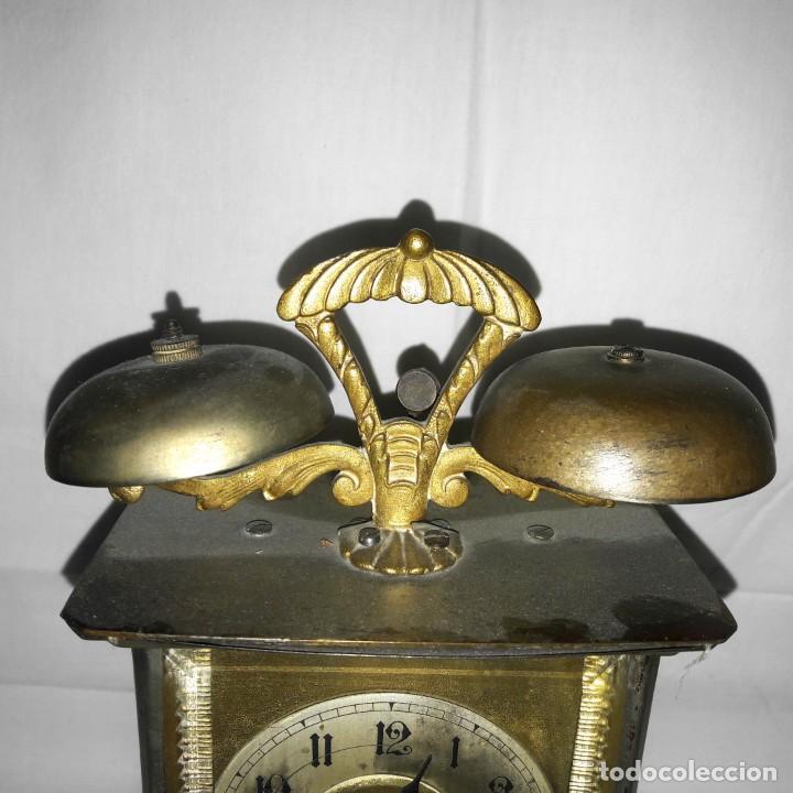 Despertadores antiguos: RELOJ DESPERTADOR CARRUAJE ALEMÁN. EN MARCHA CON SU LLAVE ORIGINAL. HACIA 1900. - Foto 2 - 165224650