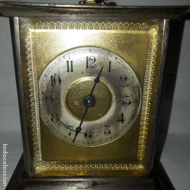 Despertadores antiguos: RELOJ DESPERTADOR CARRUAJE ALEMÁN. EN MARCHA CON SU LLAVE ORIGINAL. HACIA 1900. - Foto 3 - 165224650