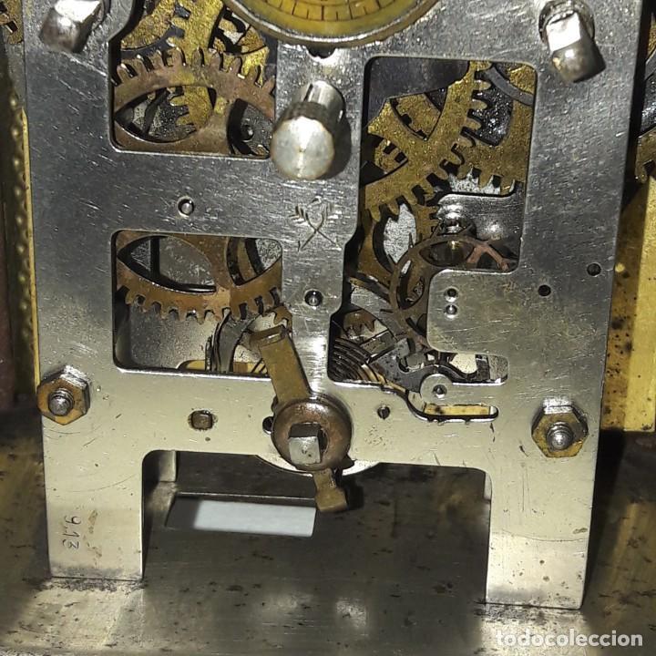 Despertadores antiguos: RELOJ DESPERTADOR CARRUAJE ALEMÁN. EN MARCHA CON SU LLAVE ORIGINAL. HACIA 1900. - Foto 9 - 165224650