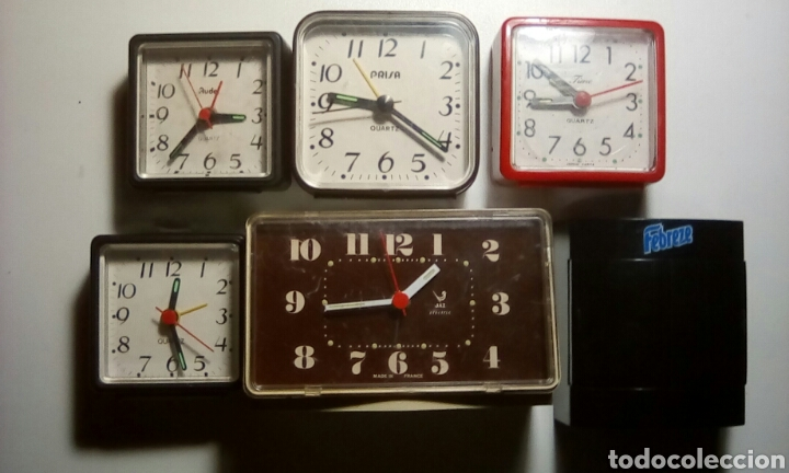 d4717fd4c94c Lote de 6 relojes despertadores a pilas (para piezas o reparar ). - España