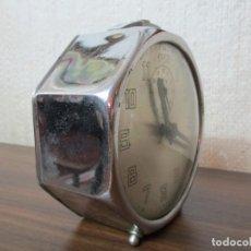 Despertadores antiguos: RELOJ DESPERTADOR SOBREMESA OCTOGONAL. Lote 169417400