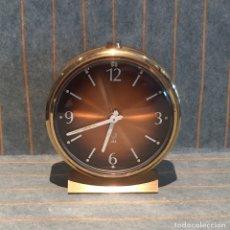 Despertadores antiguos: RELOJ DE CUERDA JAZ, EN LATÓN. Lote 169456468