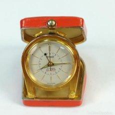 Despertadores antiguos: RELOJ DESPERTADOR DE VIAJE. POTENS 17JEWELS. (CIRCA 1960) SUIZA. Lote 169499980