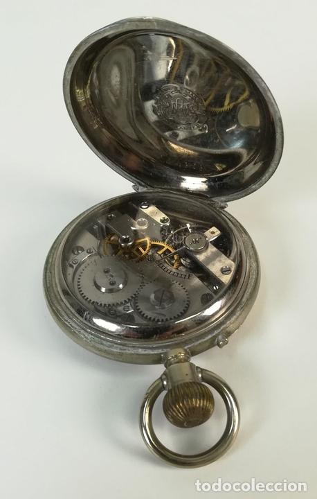 Despertadores antiguos: RELOJ DE BOLSILLO. ESFERA PINTADA A MANO. SIGLO XX. SUIZA - Foto 6 - 169647024
