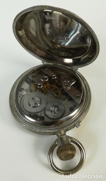 Despertadores antiguos: RELOJ DE BOLSILLO. ESFERA PINTADA A MANO. SIGLO XX. SUIZA - Foto 7 - 169647024