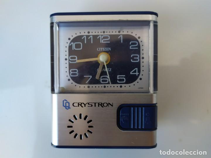 RELOJ DESPERTADOR CITIZEN Q2000-PB653 QUARTZ CRYSTRON (Relojes - Relojes Despertadores)