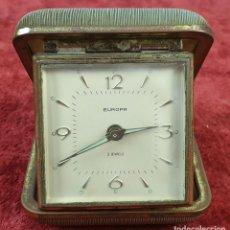Despertadores antiguos: RELOJ DESPERTADOR DE SOBREMESA. EUROPA. ESTUCHE ORIGINAL. CIRCA 1950. . Lote 170699965