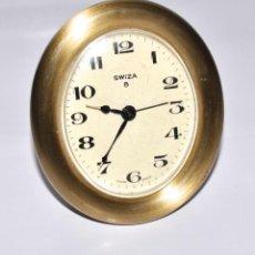 Despertadores antiguos: VINTAGE RELOJ DESPERTADOR SWIZA 8, CUERDA PARA 8 DÍAS.. Lote 171342329