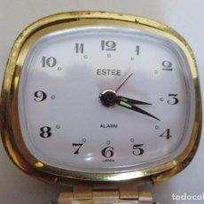 Despertadores antiguos: ESTEE,JAPON RELOJ DESPERTADOR,DE VIAJE. Lote 171432512