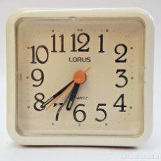 Despertadores antiguos: RELOJ DESPERTADOR DE LA MARCA LORUS.. Lote 171449614