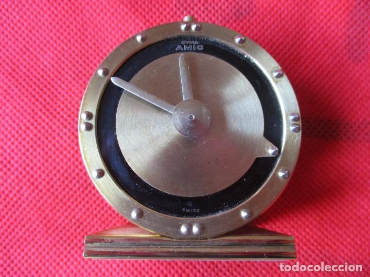 Despertadores antiguos: Reloj Cyma para ciegos método Braille - Foto 2 - 171626358