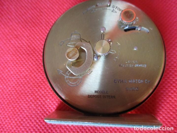 Despertadores antiguos: Reloj Cyma para ciegos método Braille - Foto 3 - 171626358