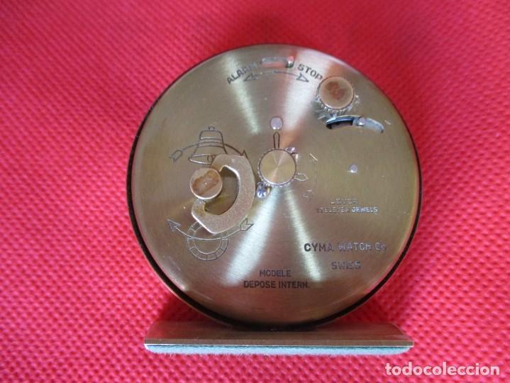 Despertadores antiguos: Reloj Cyma para ciegos método Braille - Foto 5 - 171626358