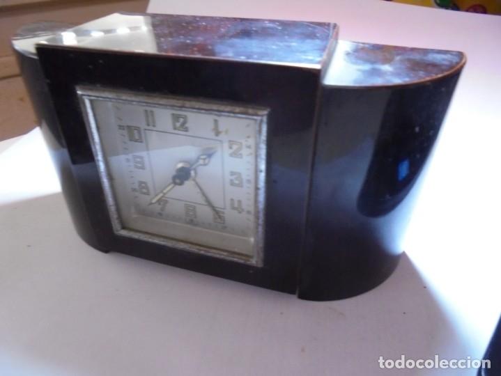 Despertadores antiguos: magnifico antiguo reloj art deco sobre los años 30 - Foto 2 - 172160687