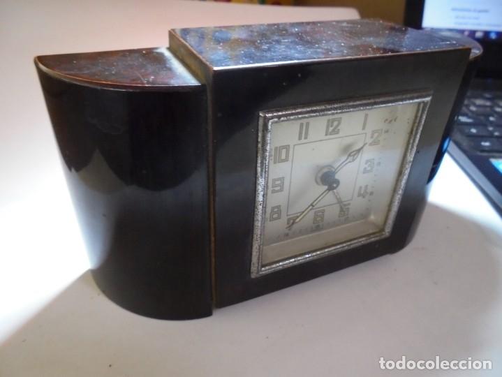 Despertadores antiguos: magnifico antiguo reloj art deco sobre los años 30 - Foto 3 - 172160687