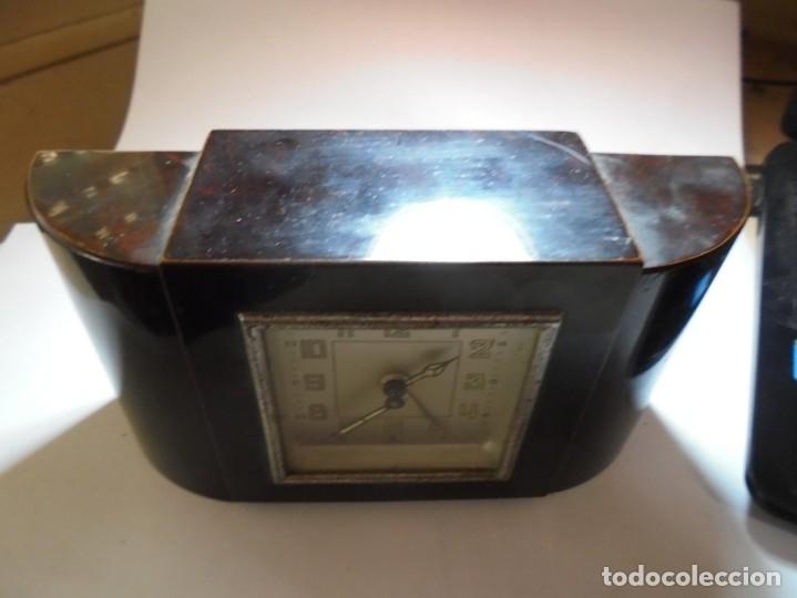 Despertadores antiguos: magnifico antiguo reloj art deco sobre los años 30 - Foto 5 - 172160687