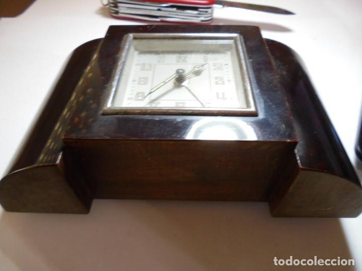 Despertadores antiguos: magnifico antiguo reloj art deco sobre los años 30 - Foto 6 - 172160687