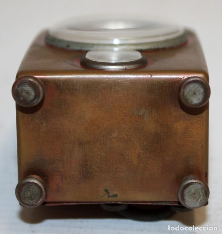 Despertadores antiguos: RELOJ DESPERTADOR DE VIAJE DE MANUFACTURA ALEMANA. APROXIMADAMENTE 1900 - Foto 4 - 172671442