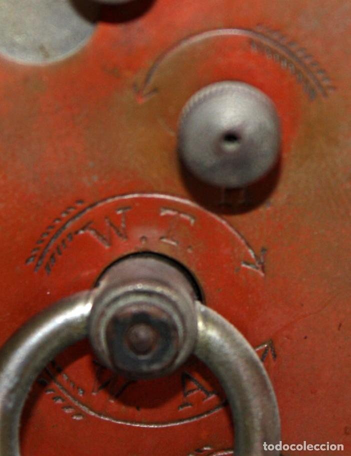 Despertadores antiguos: RELOJ DESPERTADOR DE VIAJE DE MANUFACTURA ALEMANA. APROXIMADAMENTE 1900 - Foto 5 - 172671442