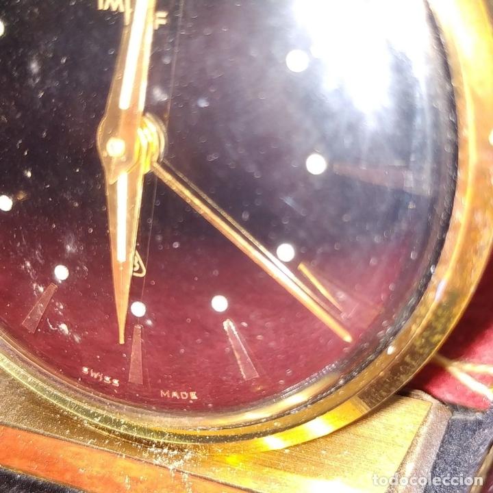 Despertadores antiguos: RELOJ - DESPERTADOR IMHOF. CON ESTUCHE ORIGINAL. REF. CAL. 249. 53/150. 1374638. SUIZA. XX - Foto 5 - 172842918