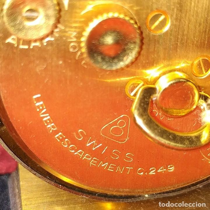 Despertadores antiguos: RELOJ - DESPERTADOR IMHOF. CON ESTUCHE ORIGINAL. REF. CAL. 249. 53/150. 1374638. SUIZA. XX - Foto 9 - 172842918