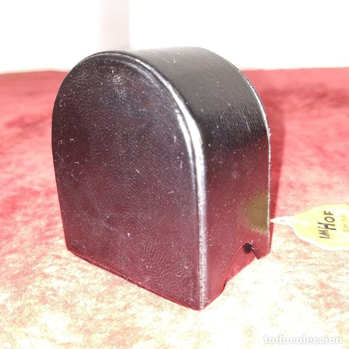 Despertadores antiguos: RELOJ - DESPERTADOR IMHOF. CON ESTUCHE ORIGINAL. REF. CAL. 249. 53/150. 1374638. SUIZA. XX - Foto 15 - 172842918