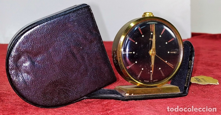 RELOJ - DESPERTADOR IMHOF. CON ESTUCHE ORIGINAL. REF. CAL. 249. 53/150. 1374638. SUIZA. XX (Relojes - Relojes Despertadores)