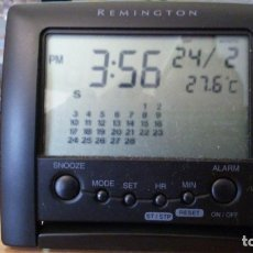 Despertadores antiguos: RELOJ DE VIAJE REMINGTON - DUAL TIME LCD CLOCK TRAVEL PLUS *IMPECABLE COMO NUEVO*. Lote 150384446