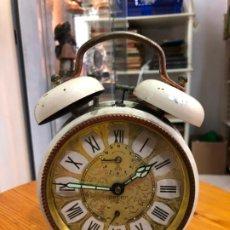 Despertadores antiguos: RELOJ DESPERTADOR ALEMAN PETER - MEDIDA 19 CM. Lote 192416313