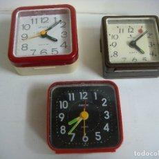 Despertadores antiguos: RELOJ DESPERTADOR LOTE DE 3 RELOJES ( NO FUNCIONANDO ) PARA PIEZAS. Lote 174035937