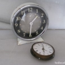 Despertadores antiguos: 2 DESPERTADORES ANTIGUOS PARA RESTAURAR. Lote 174811643