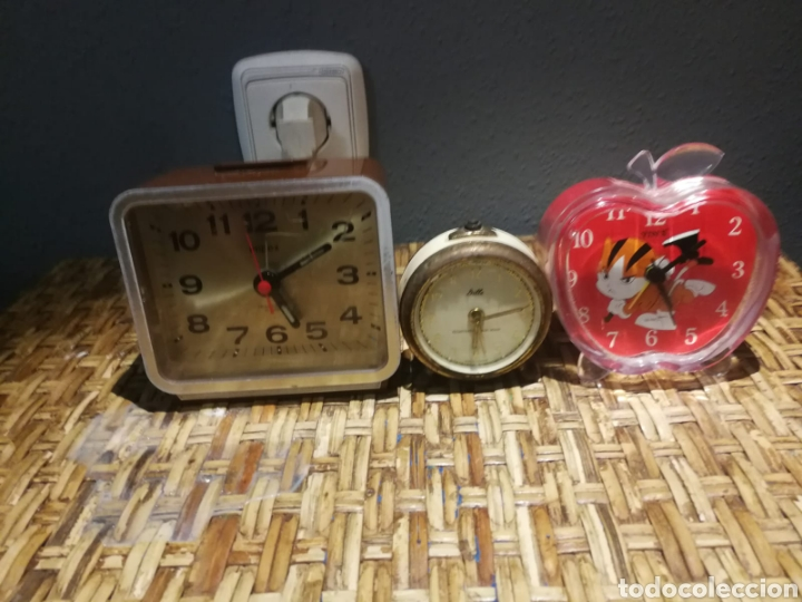 LOTE DE DESPERTADORES VINTAGE MARCAS IMPEX, DILLE, YIN'S (Relojes - Relojes Despertadores)