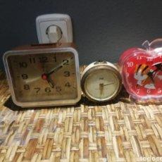 Despertadores antiguos: LOTE DE DESPERTADORES VINTAGE MARCAS IMPEX, DILLE, YIN'S. Lote 174897143