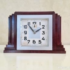 Despertadores antiguos: RELOJ DESPERTADOR FRANCES DE BAQUELITA ART DECO BAYARD MODELO BLOC 1930S ART DECO FRANCE CLOCK. Lote 175473240