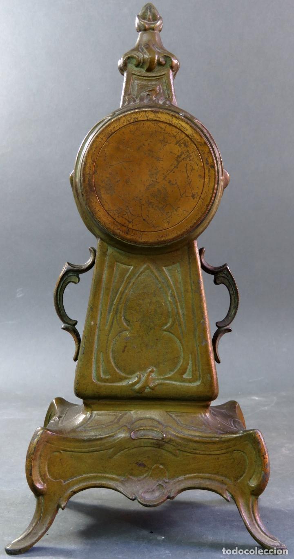 Despertadores antiguos: Reloj despertador Art Nouveau en calamina con sus llaves funciona hacia 1910 - Foto 6 - 175570067