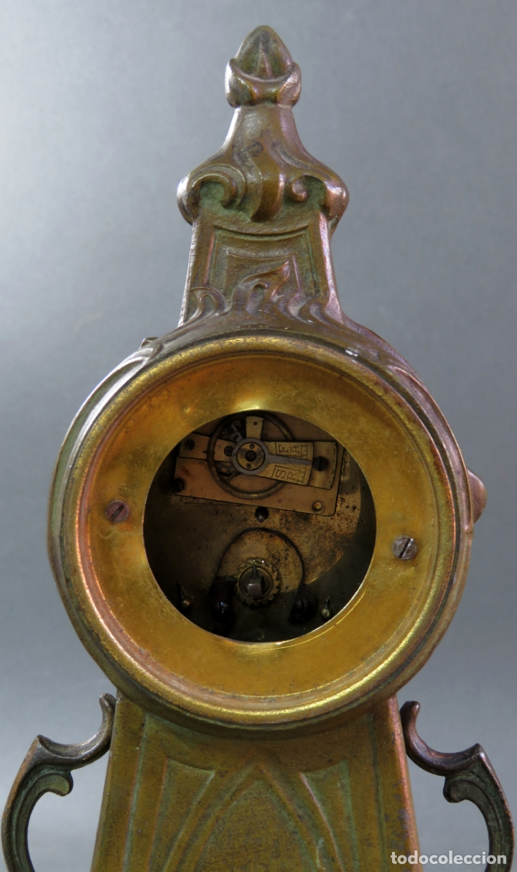 Despertadores antiguos: Reloj despertador Art Nouveau en calamina con sus llaves funciona hacia 1910 - Foto 7 - 175570067