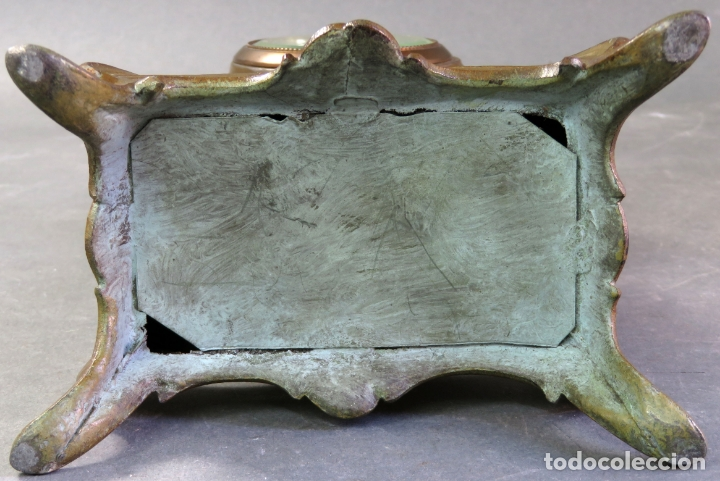 Despertadores antiguos: Reloj despertador Art Nouveau en calamina con sus llaves funciona hacia 1910 - Foto 10 - 175570067