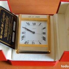 Despertadores antiguos: LE MUST DE CARTIER, RELOJ DESPERTADOR - AÑOS 80. Lote 175940758