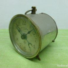 Despertadores antiguos: ANTIGUO DESPERTADOR ANSONIA CLOCK USA. CURIOSO DISEÑO REDONDO Y ALARGADO - RELOJ AMERICANO RETRO. Lote 175994738