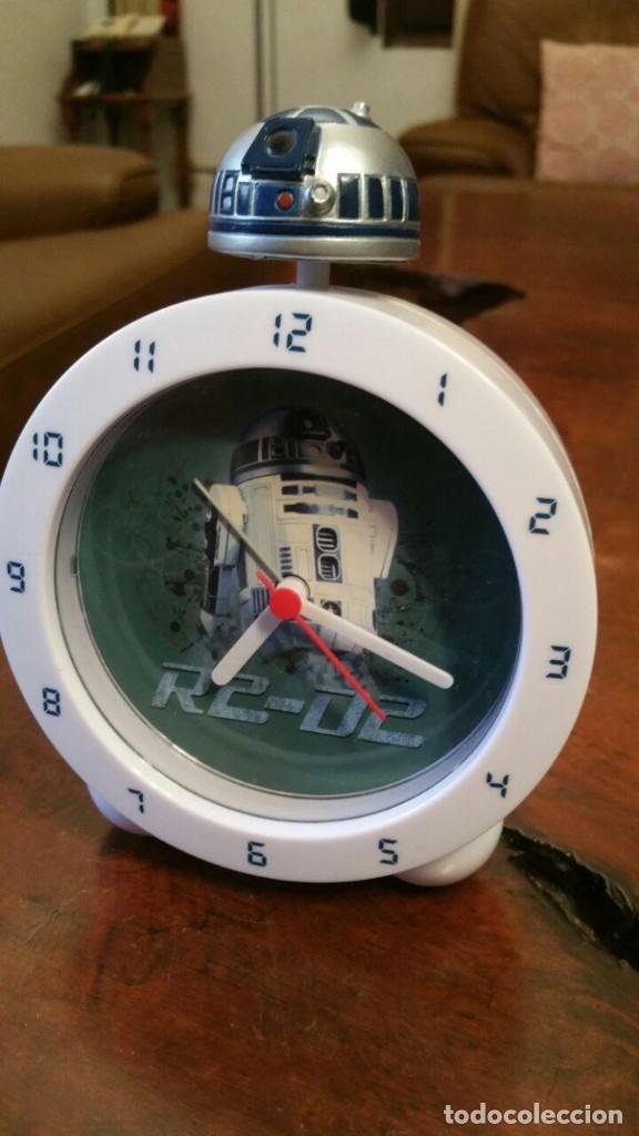 STAR WARS - R2-D2 - R2D2 - CON LUZ Y SONIDO - LICENCIA OFICIAL - SEMI NUEVO (Relojes - Relojes Despertadores)