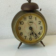Despertadores antiguos: ANTIGUO RELOJ DESPERTADOR FRANCES BREVETE SGDG. EN FUNCIONAMIENTO.. Lote 178722456
