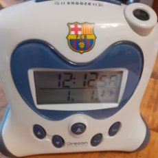 Despertadores antiguos: RELOJ DESPERTADOR FC BARCELONA. Lote 178769761