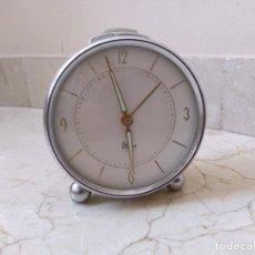 Despertadores antiguos: ANTIGUO RELOJ DESPERTADOR MIERA A CUERDA. FUNCIONA. Lote 178996761