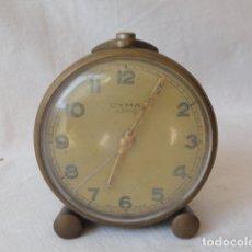 Despertadores antiguos: RELOJ DESPERTADOR CYMA AMIC SWISS MADE.. Lote 179093397