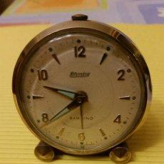 Despertadores antiguos: RELOJ DESPERTADOR BLESSING BAMBINO PARA REPARAR. Lote 179552226