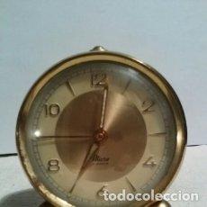Despertadores antiguos: RELOJ DESPERTADOR MARCA MICRO FUNCIONANDO. Lote 180191552
