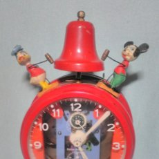 Despertadores antiguos: ANTIGUO Y RARO RELOJ DESPERTADOR DISNEY MARCA JUPEX MADE IN GERMANY DE 1950.. Lote 180283296